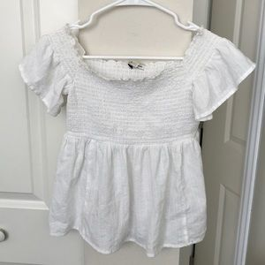 American Eagle off the shoulder white top